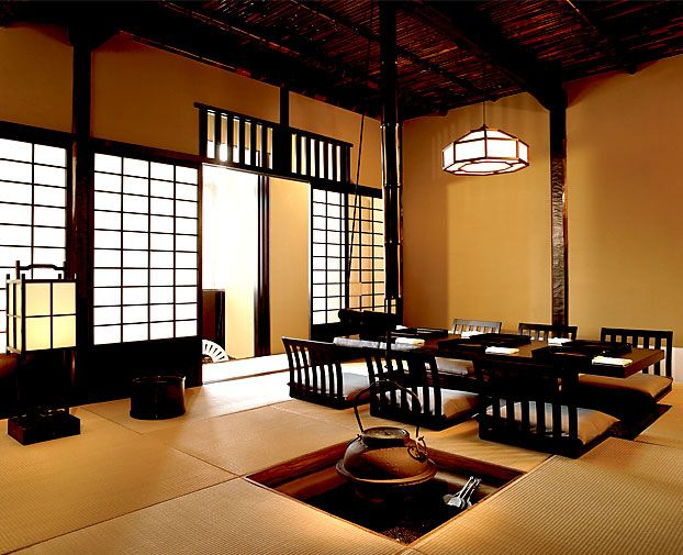Many new hotels do their best to lure guests in with the for Modern japanese tea house design