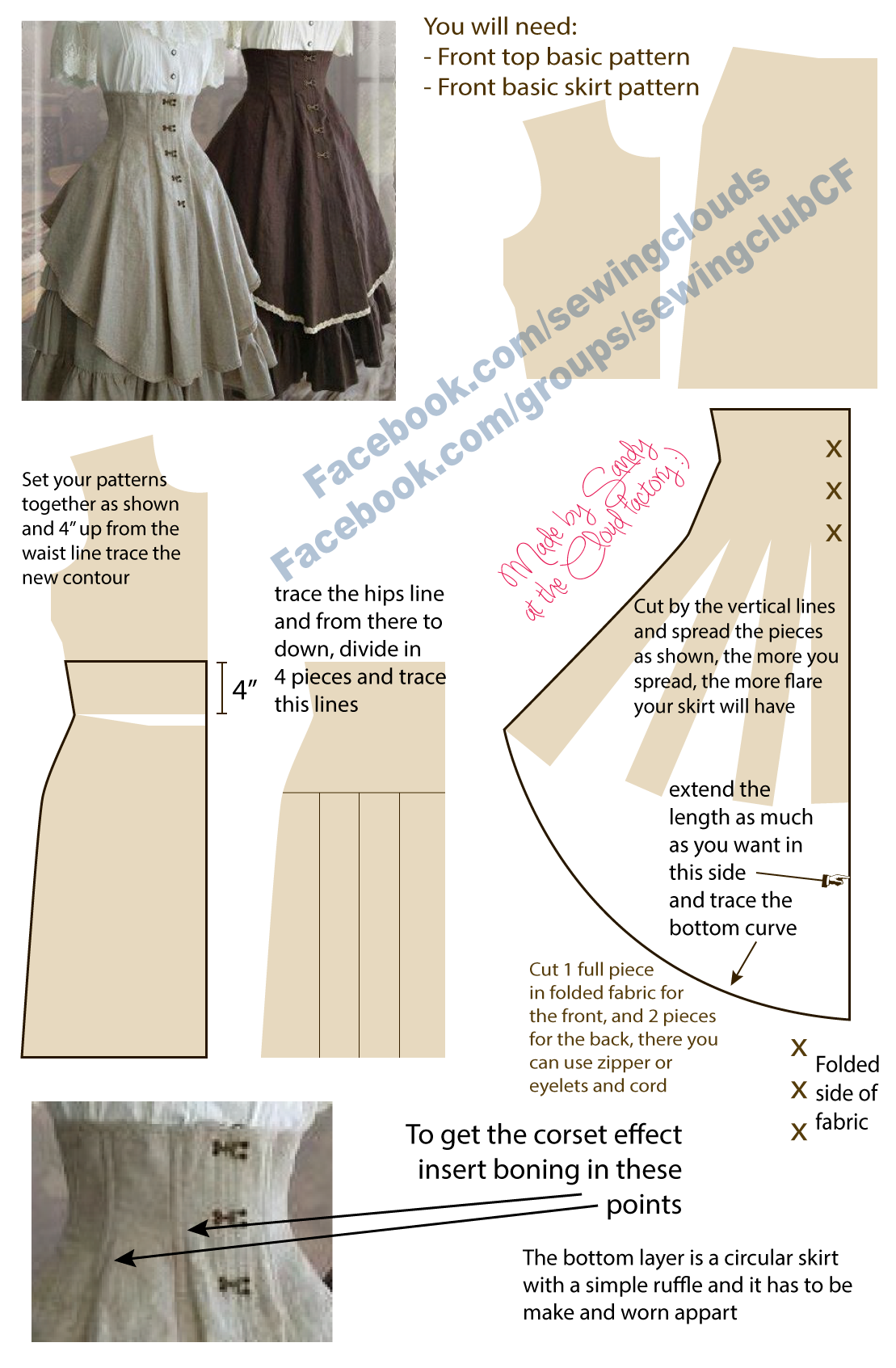 Simple medieval dress pattern by Sindeon on deviantART. And you ...