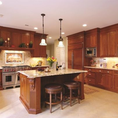 Tall Cabinets And Moulding Between Tops Of Cabinets And Ceiling Kitchen 9 Foot Ceilings Design Ideas Pictur Kitchen Remodel Kitchen Design Grey Kitchen Floor