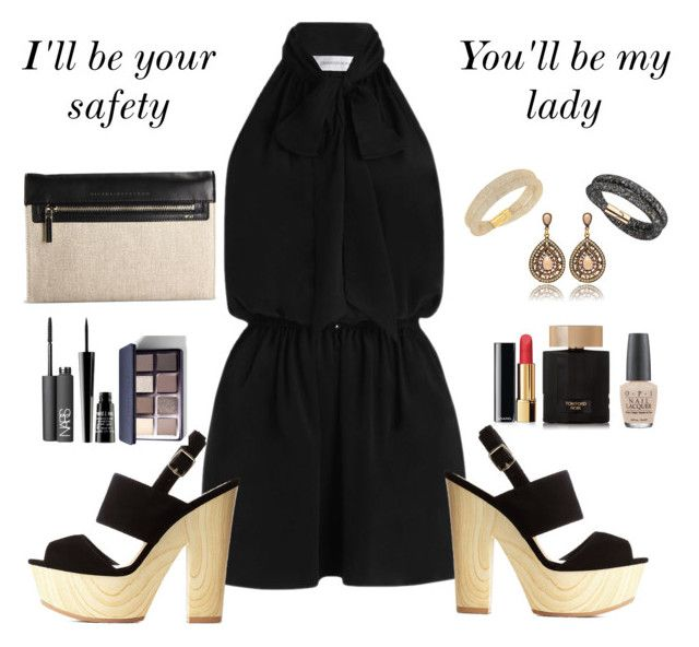 """""""You."""" by silviarussi ❤ liked on Polyvore featuring Zimmermann, Charlotte Russe, Victoria Beckham, Swarovski, NARS Cosmetics, Lord & Berry, Bobbi Brown Cosmetics, Chanel, Tom Ford and OPI"""