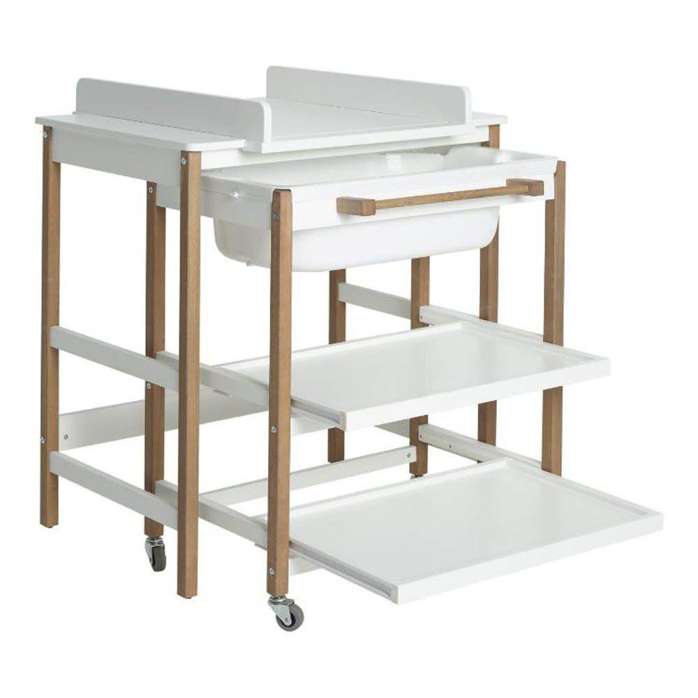 Table langer avec baignoire smart noir en 2020 table - Table a langer en bois avec baignoire ...