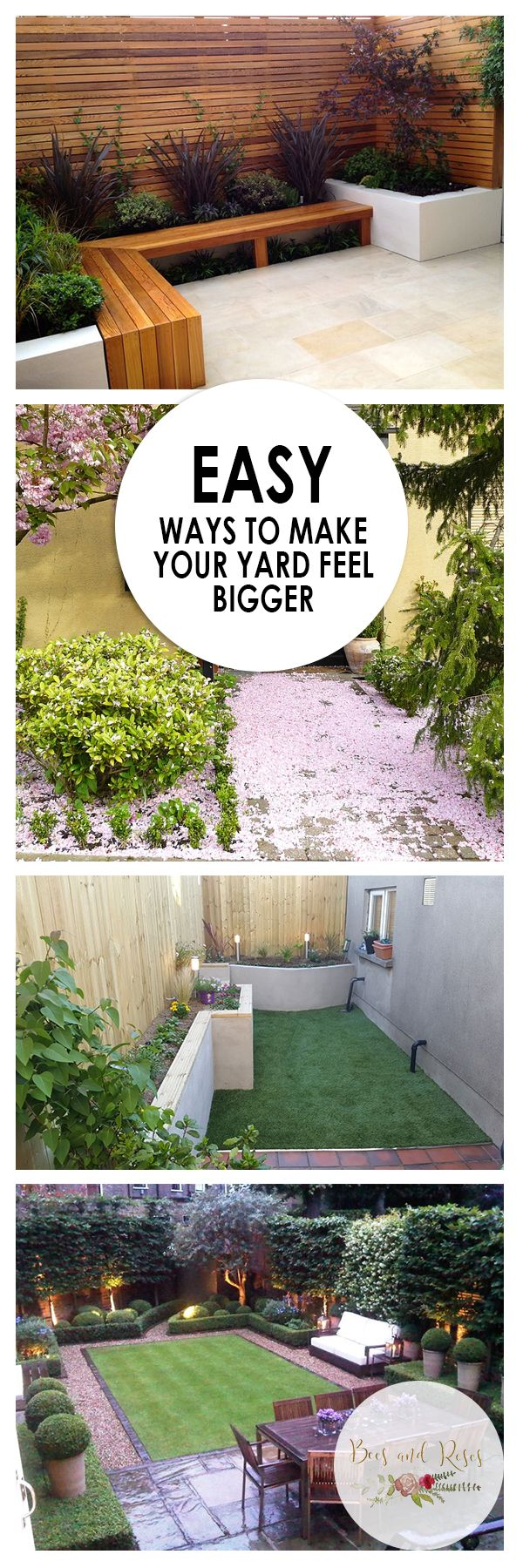 easy yard space ideas to make your yard feel bigger landscaping