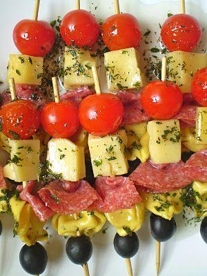 Brochetas con tortellinis receta recetas facil y - Comida para navidad facil ...