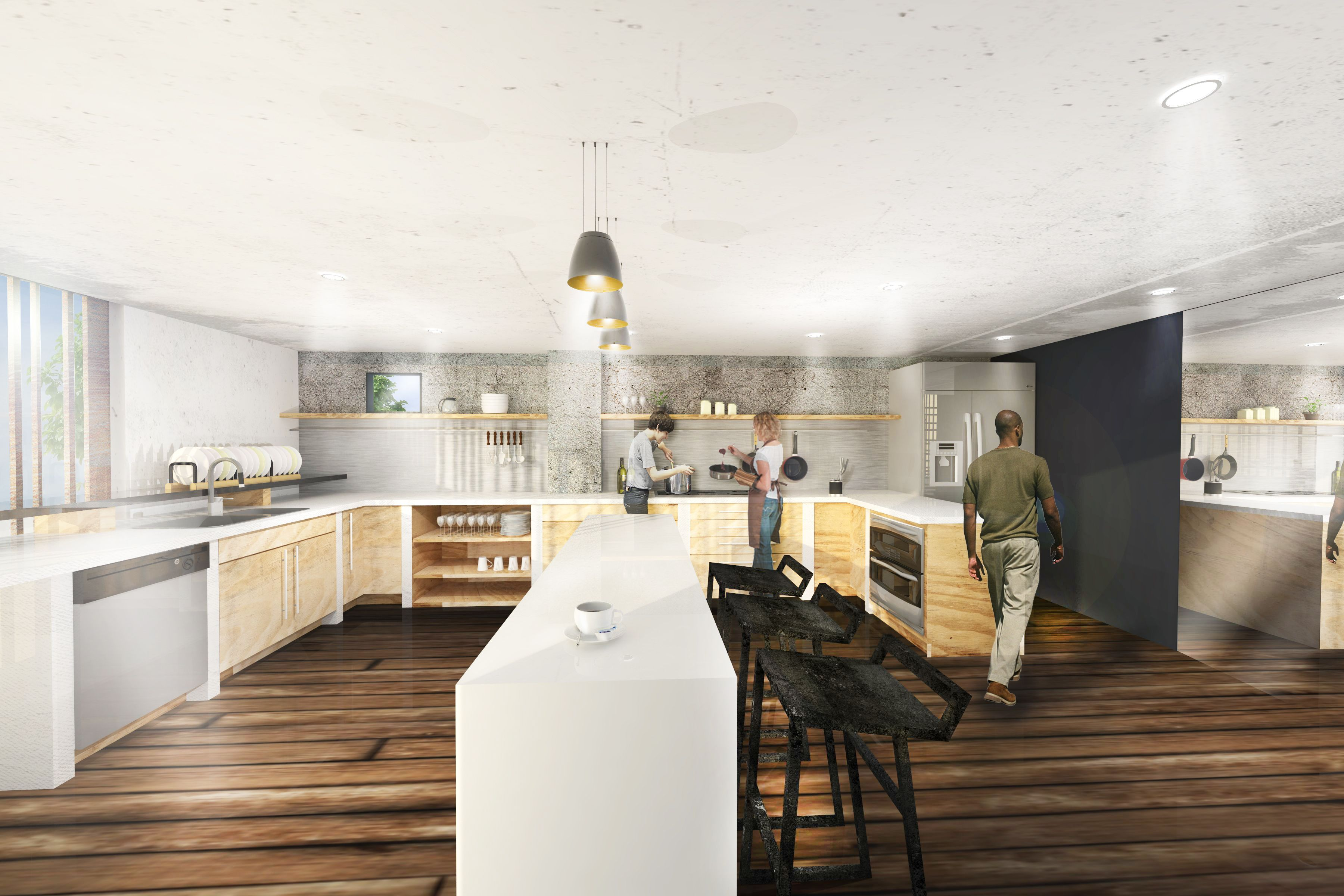 Design Project About Hong Kong B B Kitchen Rendering Designed