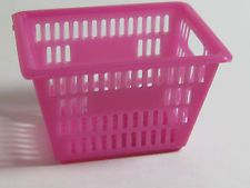 Pink Plastic Laundry Basket Adorable Dollhouse Miniature  Pink Plastic Laundry Basket For The Dollhouse Inspiration Design