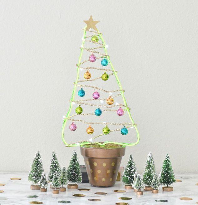 DIY Flower Pot Christmas Tree Lifestyle + Living DIY\u0027s Tips Tricks