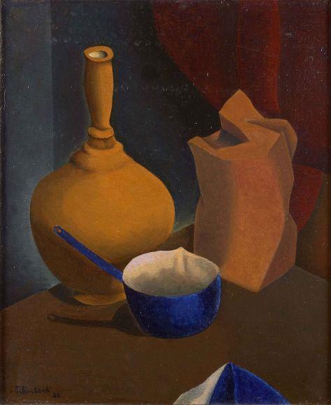 Cacerola azul y paquete de café - René Rimbert