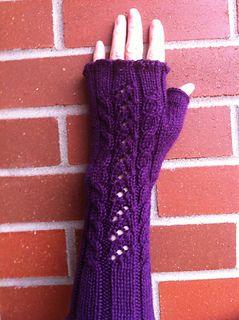 Ravelry: Katherine's adaptation of Sonja's fingerless gloves pattern by Katherine Maas