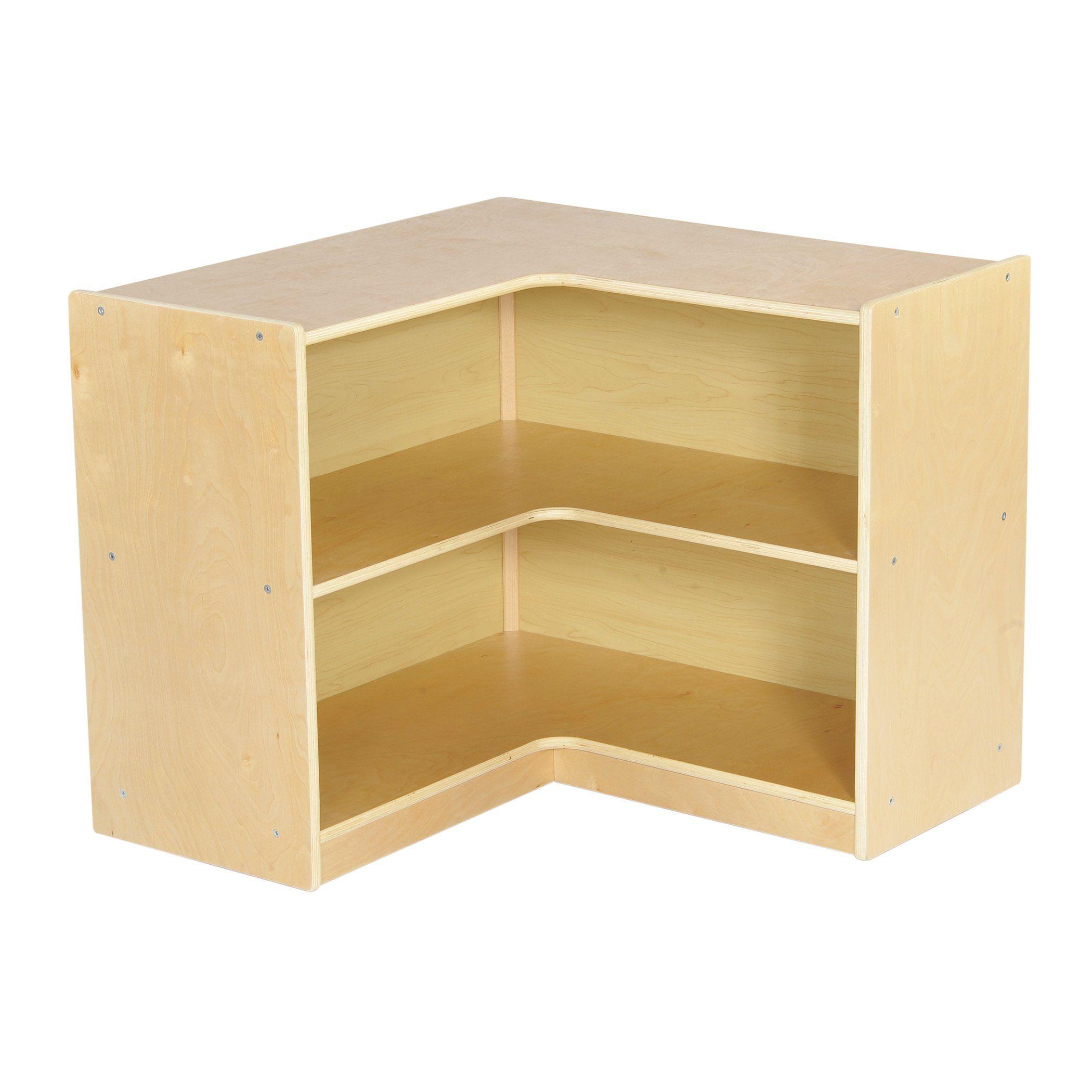 Ecrkids birch corner storage unit inch natural biss
