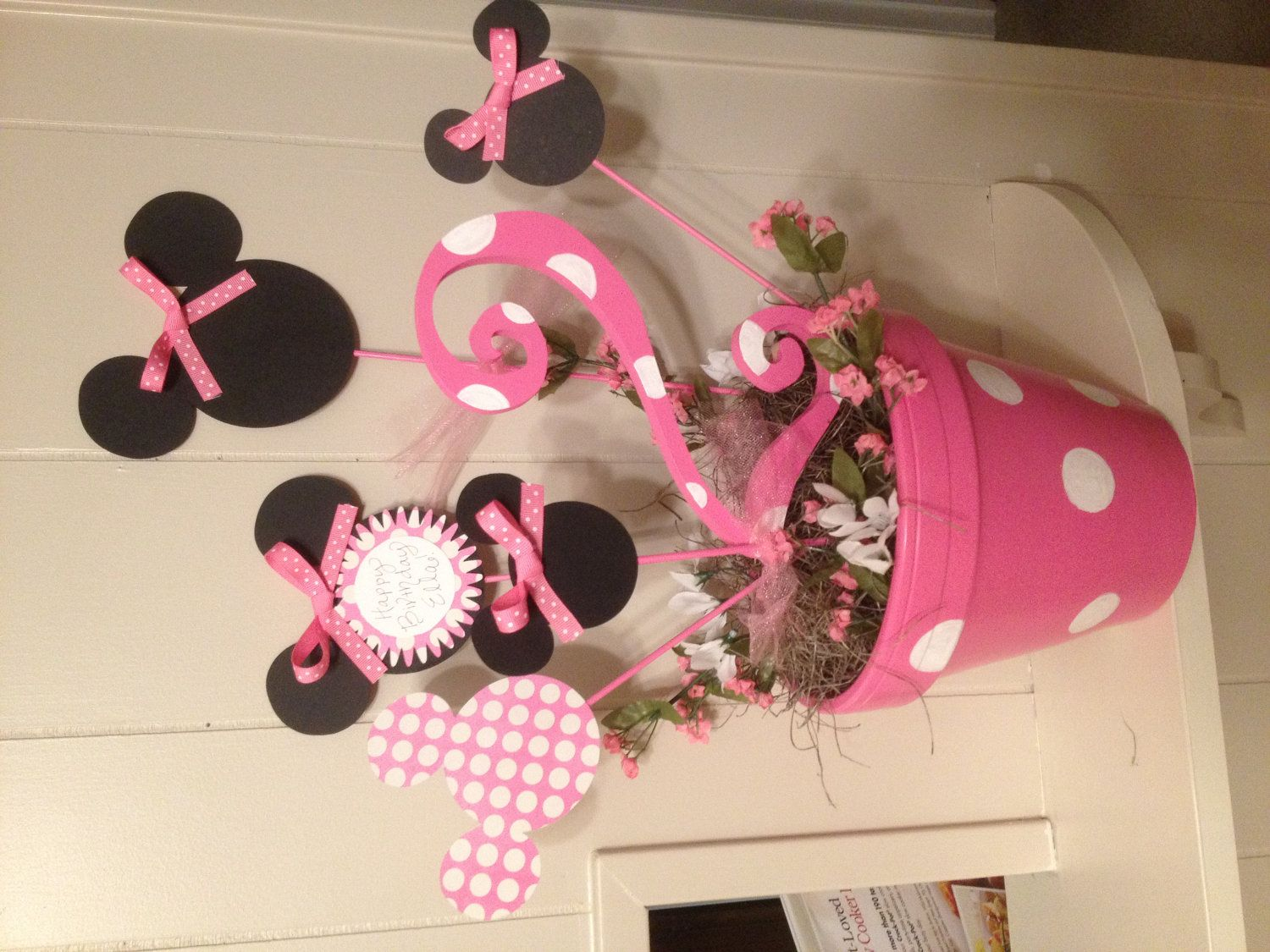 Minnie Mouse Centerpiece Ideas Birthday Table By Laurenmarie318 On Etsy