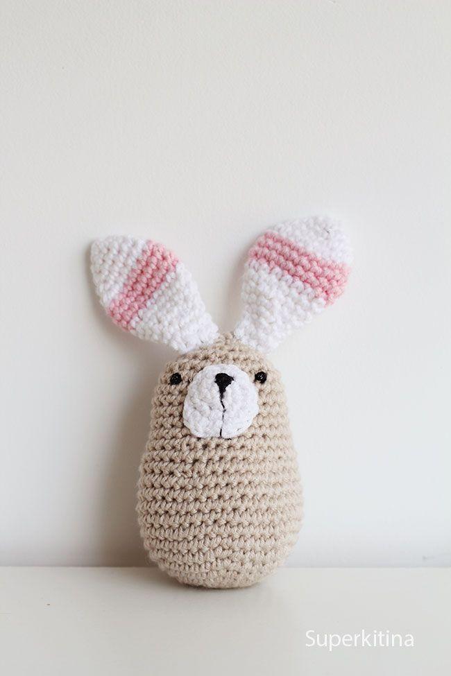 Conejito de crochet. Amigurumi patrón. Superkitina | crochet ...