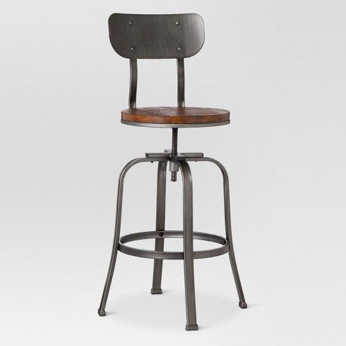 Pleasing Dakota 29 Backed Adjustable Barstool Antique Bronze Pabps2019 Chair Design Images Pabps2019Com