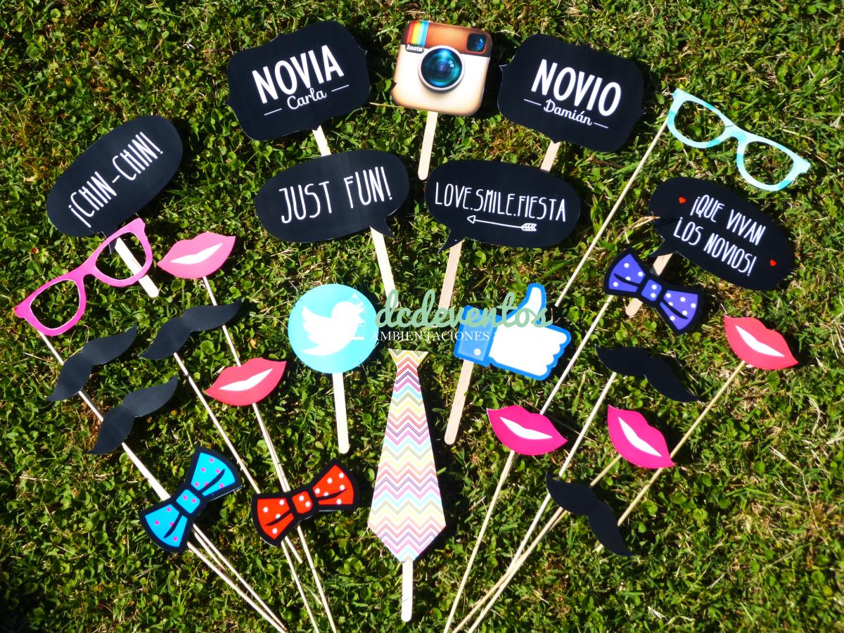 Kit photobooth kit de accesorios para fotos divertidas - Ideas divertidas para fiestas ...