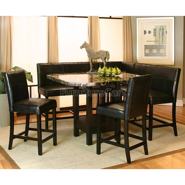 Chatham Counter Height Corner Dining Nook Set Corner Dining Table Dining Room Sets Marble Top Dining Table