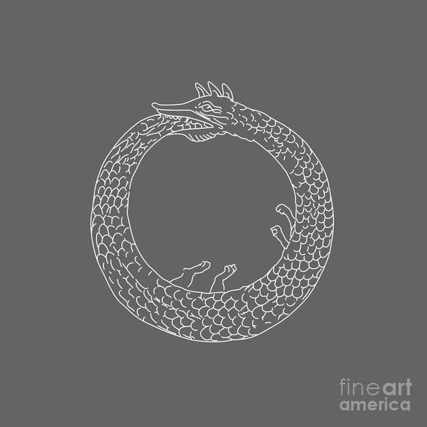 Ouroboros Print by Frederick Holiday.  All prints are professionally printed, packaged, and shipped within 3 - 4 business days. Choose from multiple sizes and hundreds of frame and mat options.