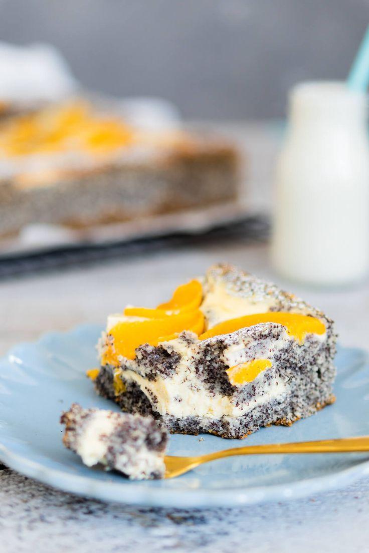 Blechkuchen mit Mohn und Pfirsichen | Mein Naschglück