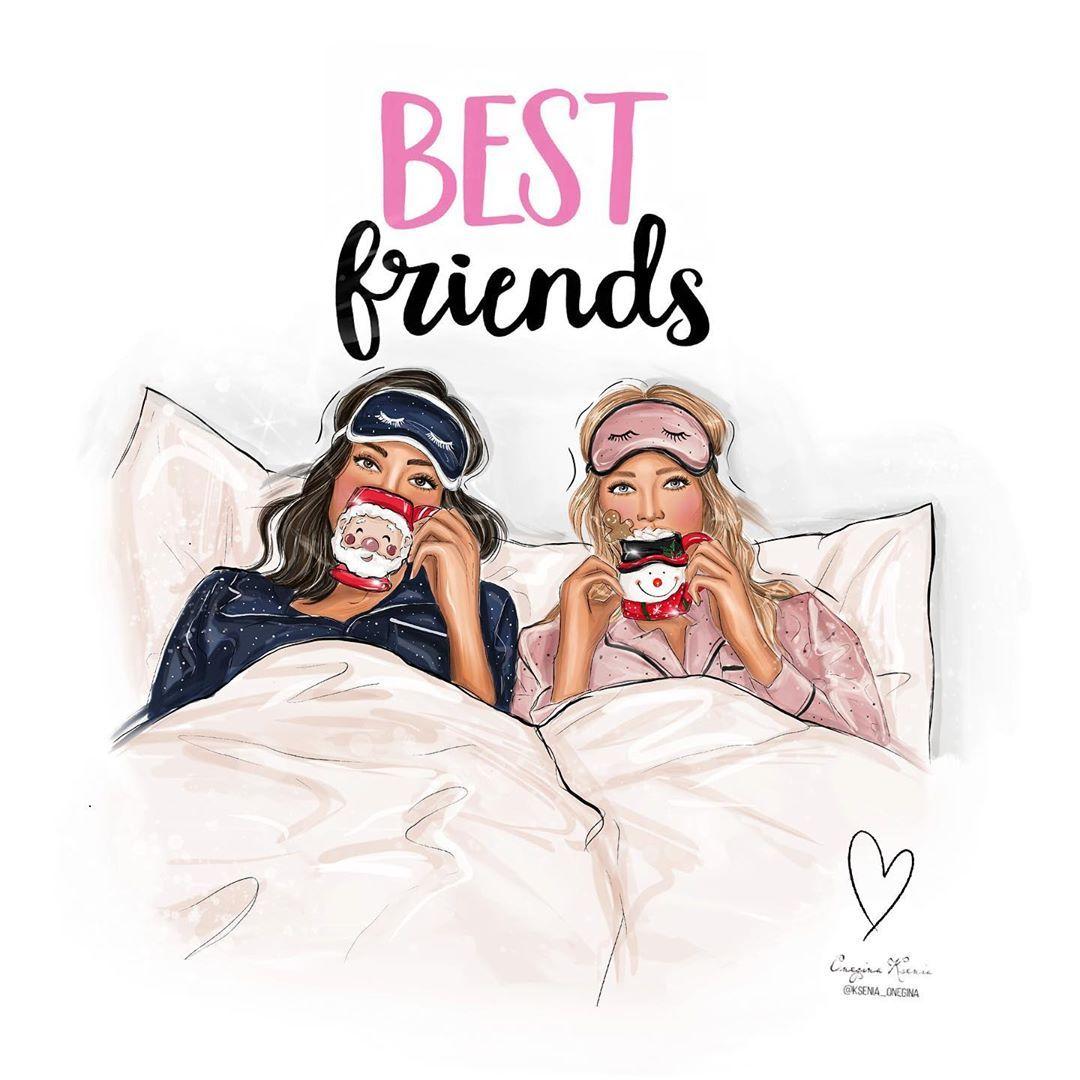 "𝐅𝐚𝐬𝐡𝐢𝐨𝐧 𝐈𝐥𝐥𝐮𝐬𝐭𝐫𝐚𝐭𝐨𝐫 / 𝐀𝐫𝐭𝐢𝐬𝐭 pe Instagram: ""Best friends ✨🎄 🎄☕️ Рисую иллюстрации на заказ(логотип ,визитки),пишите в Директ или на почту ✍🏻✨⠀⠀⠀⠀Im drawing illustrations to order 👌🏻Write"