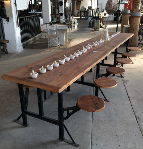 Factory Style Cafeteria Table With Images Cafeteria Table