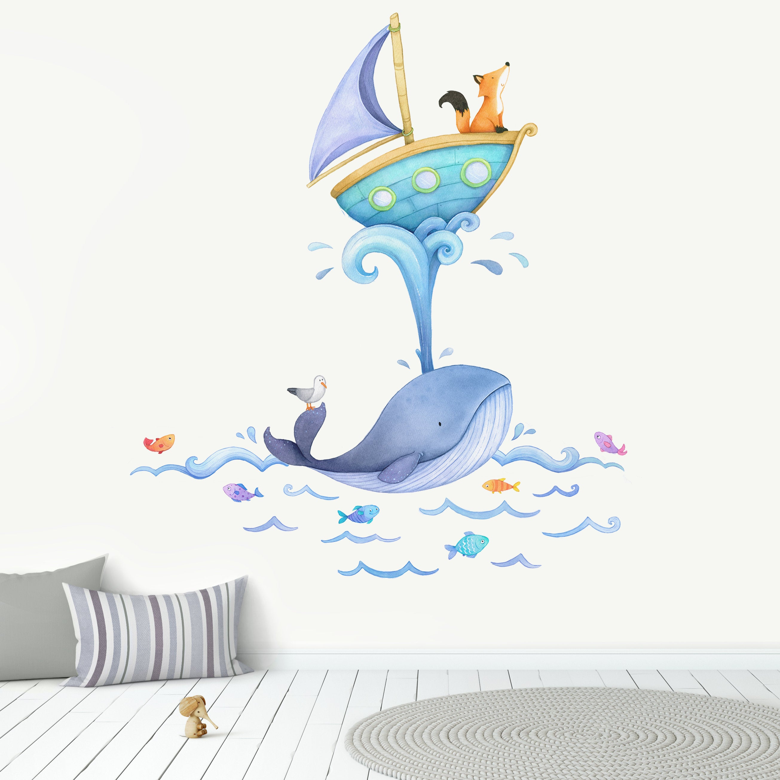 Ligne ligne ligne de votre bateau Autocollant Mural Vinyle Art enfants chambre autocollant Pépinière