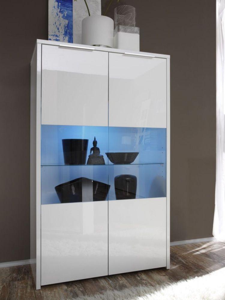 seta vitrine weiss hochglanz lackiert flurschrank pinterest vitrine hochglanz und lackieren. Black Bedroom Furniture Sets. Home Design Ideas