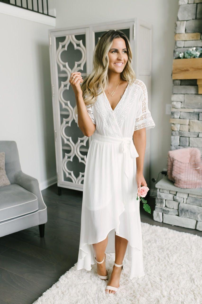 Short Sleeve Crochet High Low Wrap Maxi Off White White Boho Dress Boho Dress Short White Short Dress [ 1280 x 853 Pixel ]