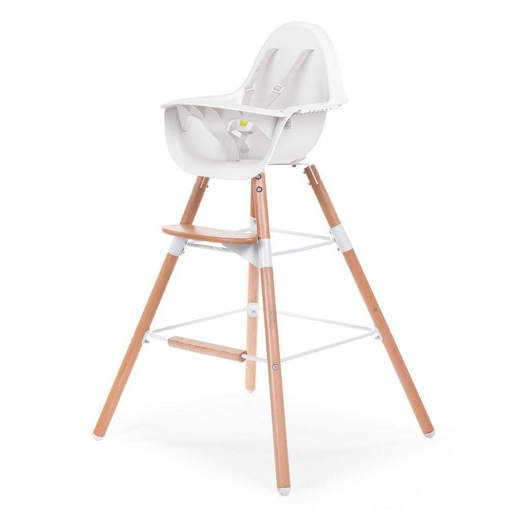 Chaise Haute Evolutive Evolu Blanc Naturel Product Chaise Haute Bebe Design Chaise Haute Chaise Haute Bebe