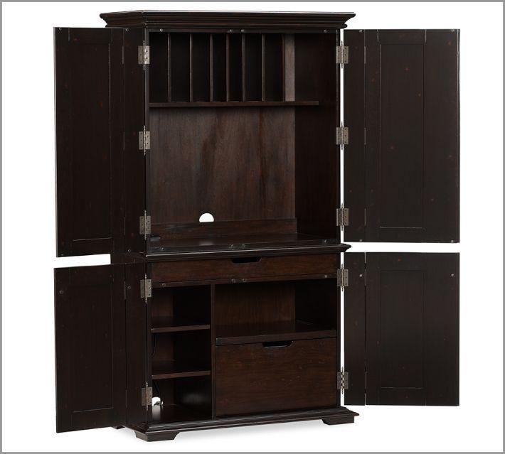 Hidden Desk In An Armoire Computer Armoire Armoire