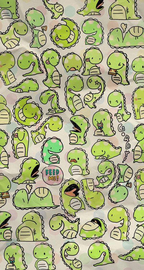 Image De Wallpaper Dinosaur And Green Dinosaur Wallpaper Wallpaper Iphone Cute Kawaii Wallpaper