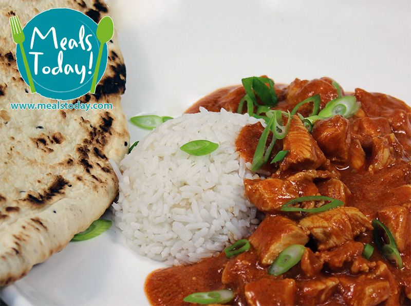 Butter Chicken infused with Yoghurt & Cinnamon served atop fluffy Long Grain Rice. Available for ordering now, for delivery on 3rd June. www.mealstoday.com/meals