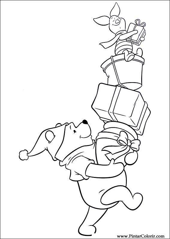 Pintar E Colorir Natal Amigos Desenho 040 Disney Dibujos Para