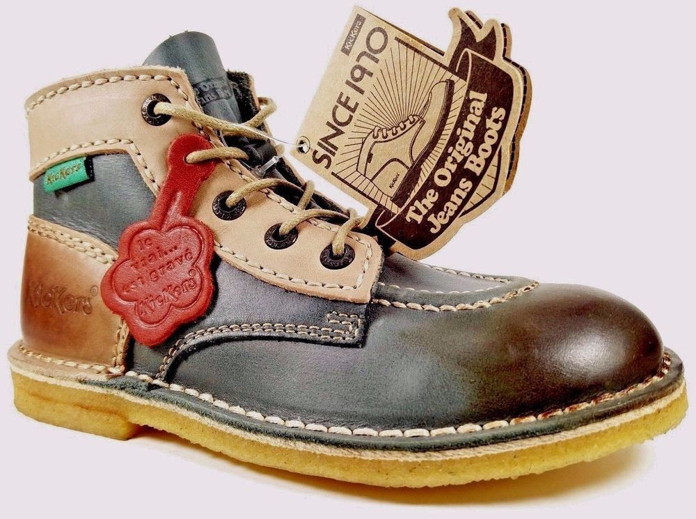 1c5c44e8cb5856 REAL LEATHER Vintage Kids Boots Brand New Limited Kickers Winter Boys Snow  Shoes #Kickers #VintageBoots #VintageKidsFashion
