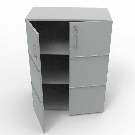 Meuble de rangement pour bureau avec serrure et étagères amovibles
