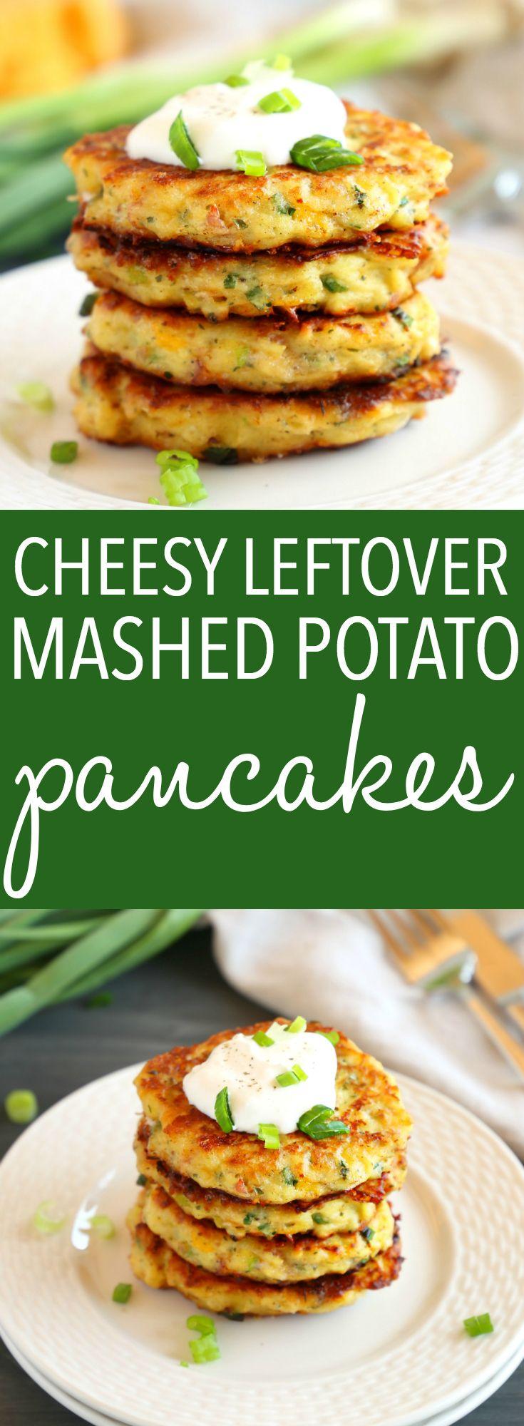 Cheesy Leftover Mashed Potato Pancakes These Chees