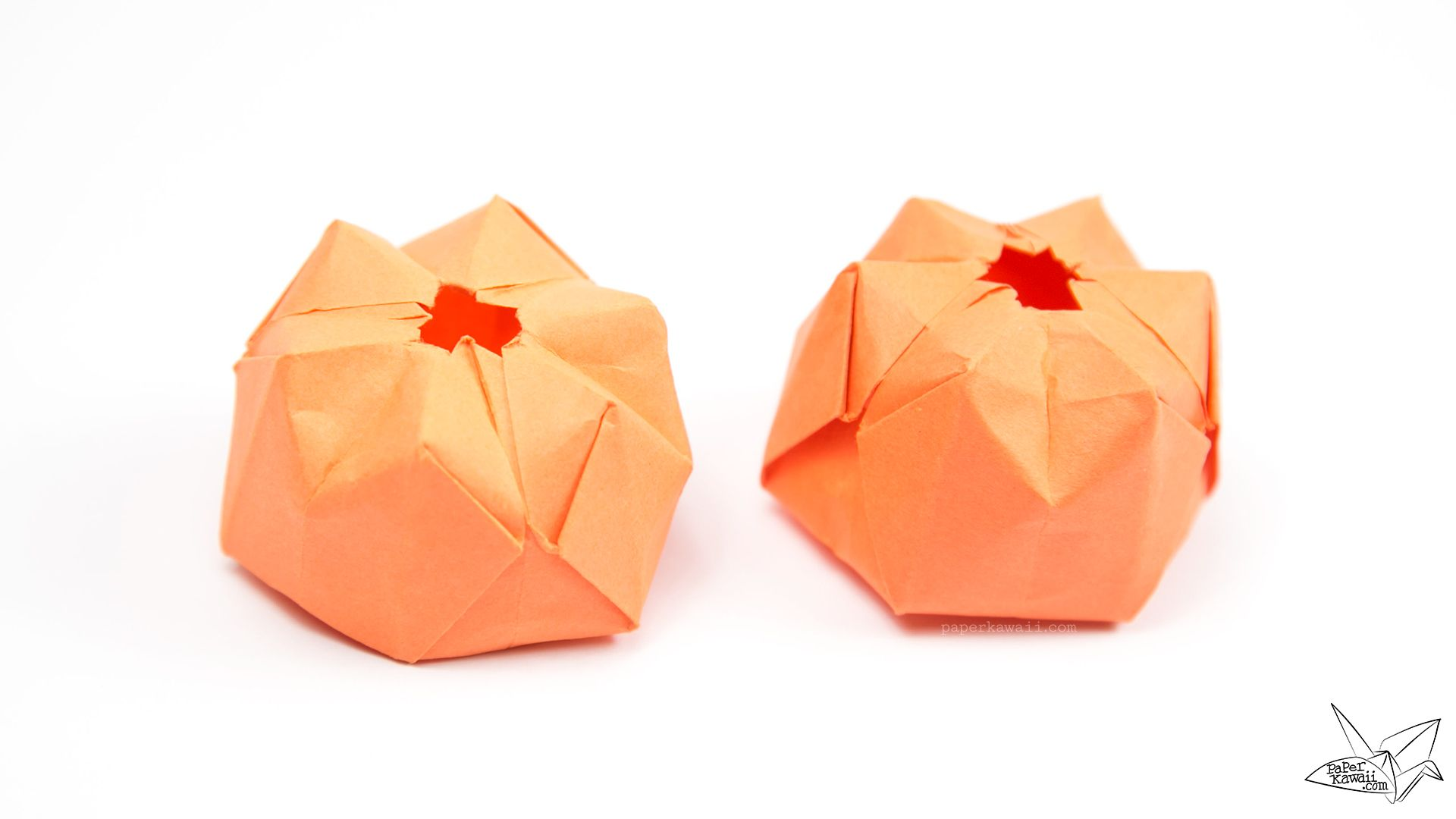 Inflatable Origami Pumpkin Tutorial - Halloween Jack O ... - photo#13