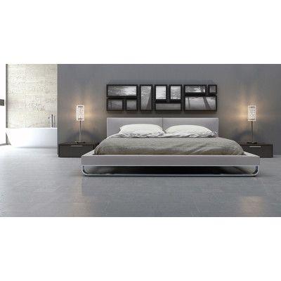 Modloft Chelsea Upholstered Platform Bed Allmodern Modern Bed