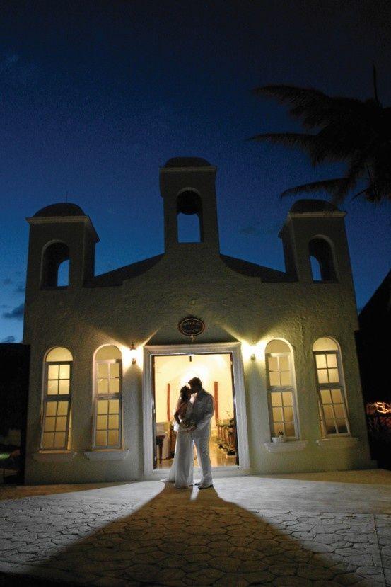 Get married at the El Dorado Royale chapel. #destinationwedding