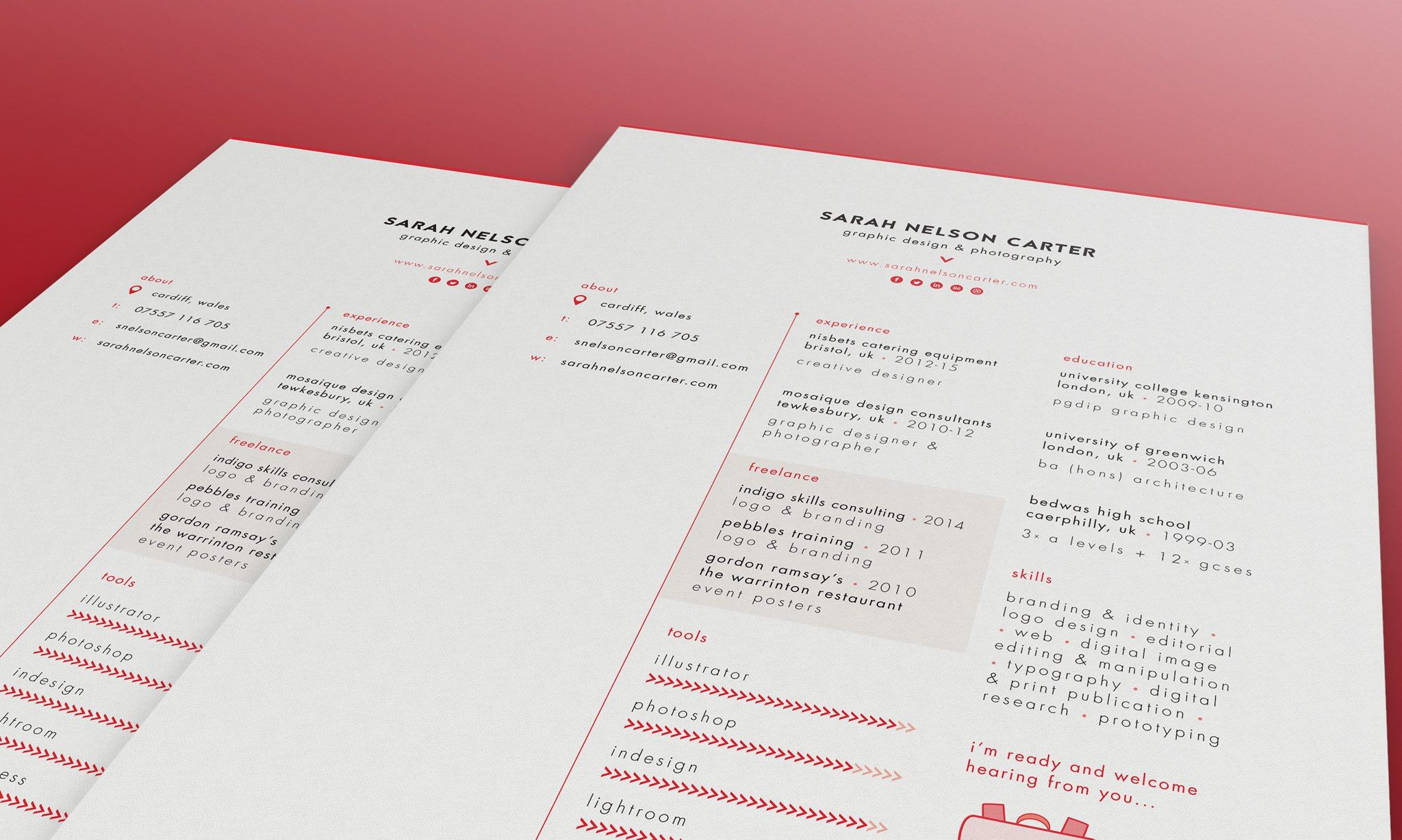 Sarah Nelson Carter Graphic Designer Resume
