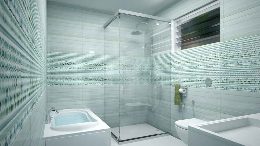 Master Bathroom with Shower Enclosure design by Ms monnaie