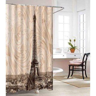 Elegant Comfort 3d Graphic Bathroom Shower Curtain 100 Vinyl