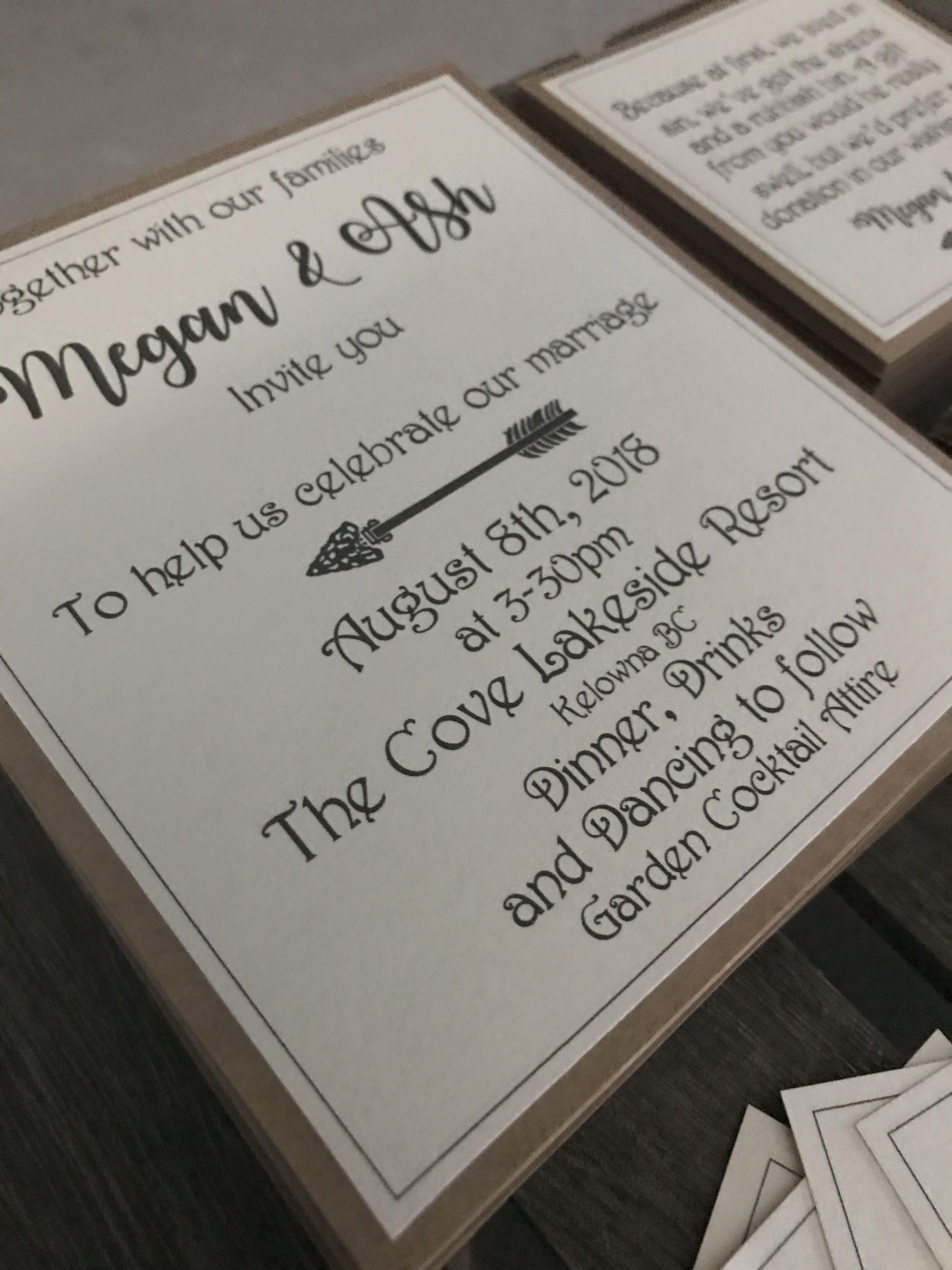 Rustic wedding invitations with doily paper   Wedding invitation ...