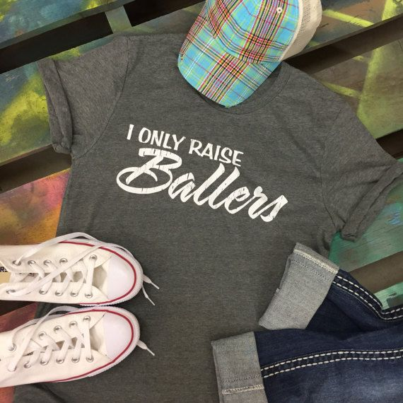 4ce39ed11a9c Baseball I ONLY Raise Ballers Mom t-shirt tee soft shirt by chasingelly.  Chasing Elly on Etsy.