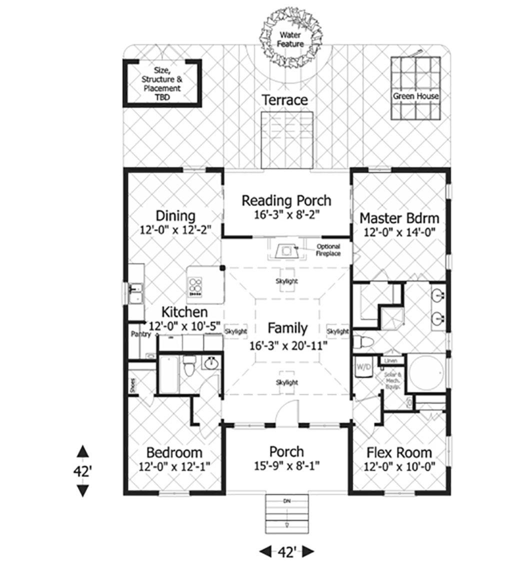 Bungalow style house plan 3 beds 2 baths 1488 sqft plan 56