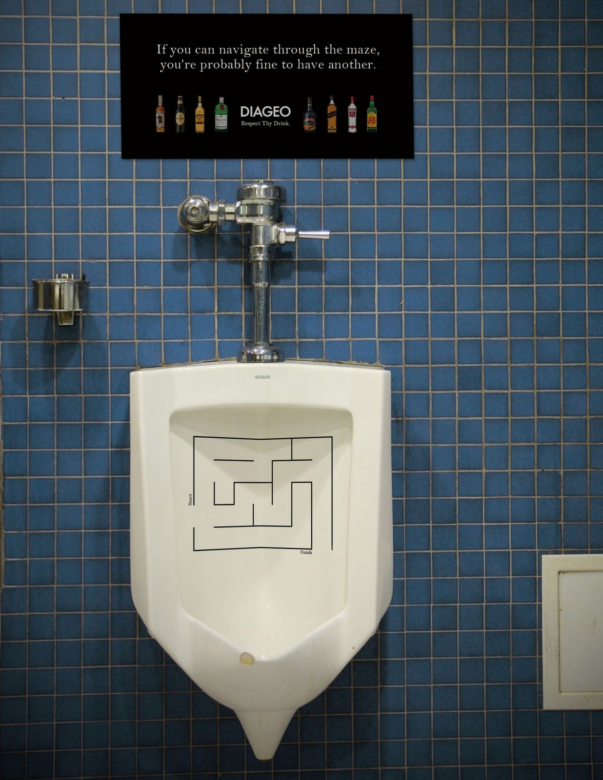 Man Cave With Urinal : Ad in urinal advertising pinterest toilet man