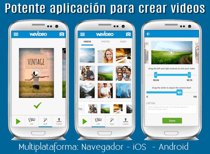 WeVideo. Potente aplicación multiplataforma para crear videos #apps #editordevideo