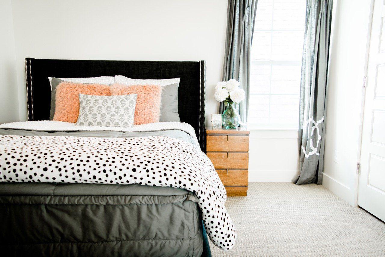 Modern Gray Grey bedding, Bed, Zip up bedding
