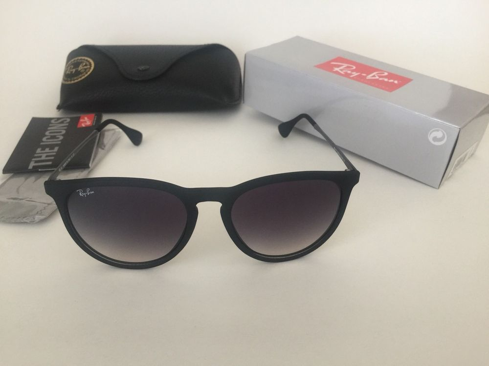 Ray-Ban Women s Gradient Erika RB4171 622 8G-54 Black Round Sunglasses 54mm   RayBan  RoundSunglasses 8e576a1409