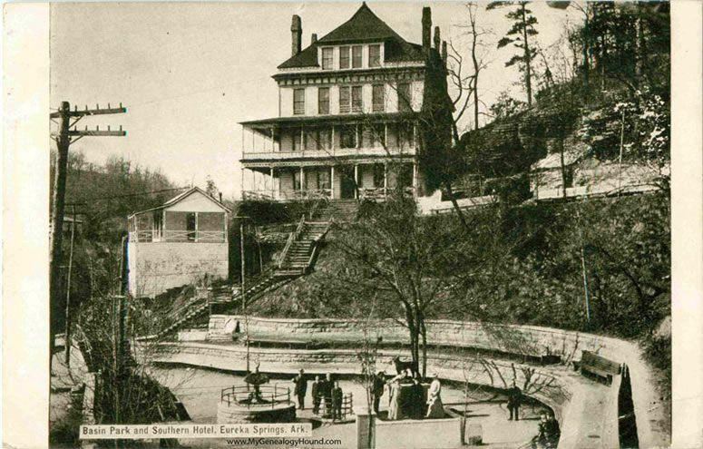 Eureka Springs, Arkansas, Basin Park and Southern Hotel ...