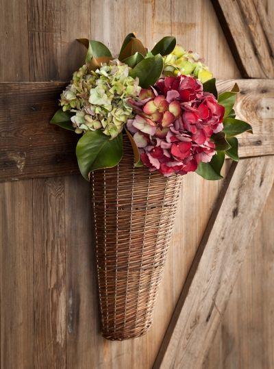 """Willow Door Basket. 12""""W x 6""""D x 18""""L. Price: $26.95"""