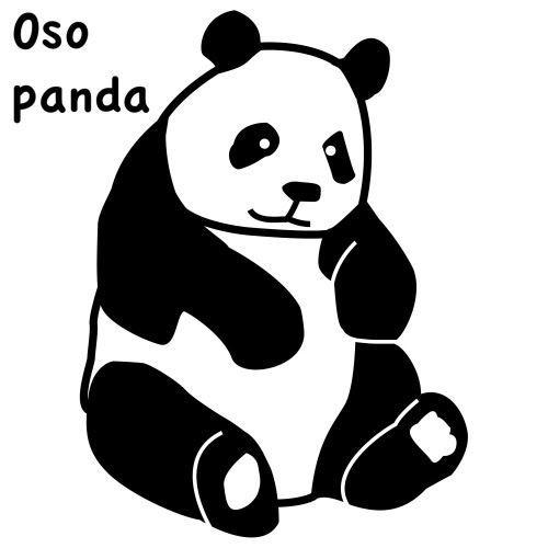 Oso Panda Bebe Dibujo Para Colorear Imagenes De Osos Panda Osos Panda Ilustracion De Panda