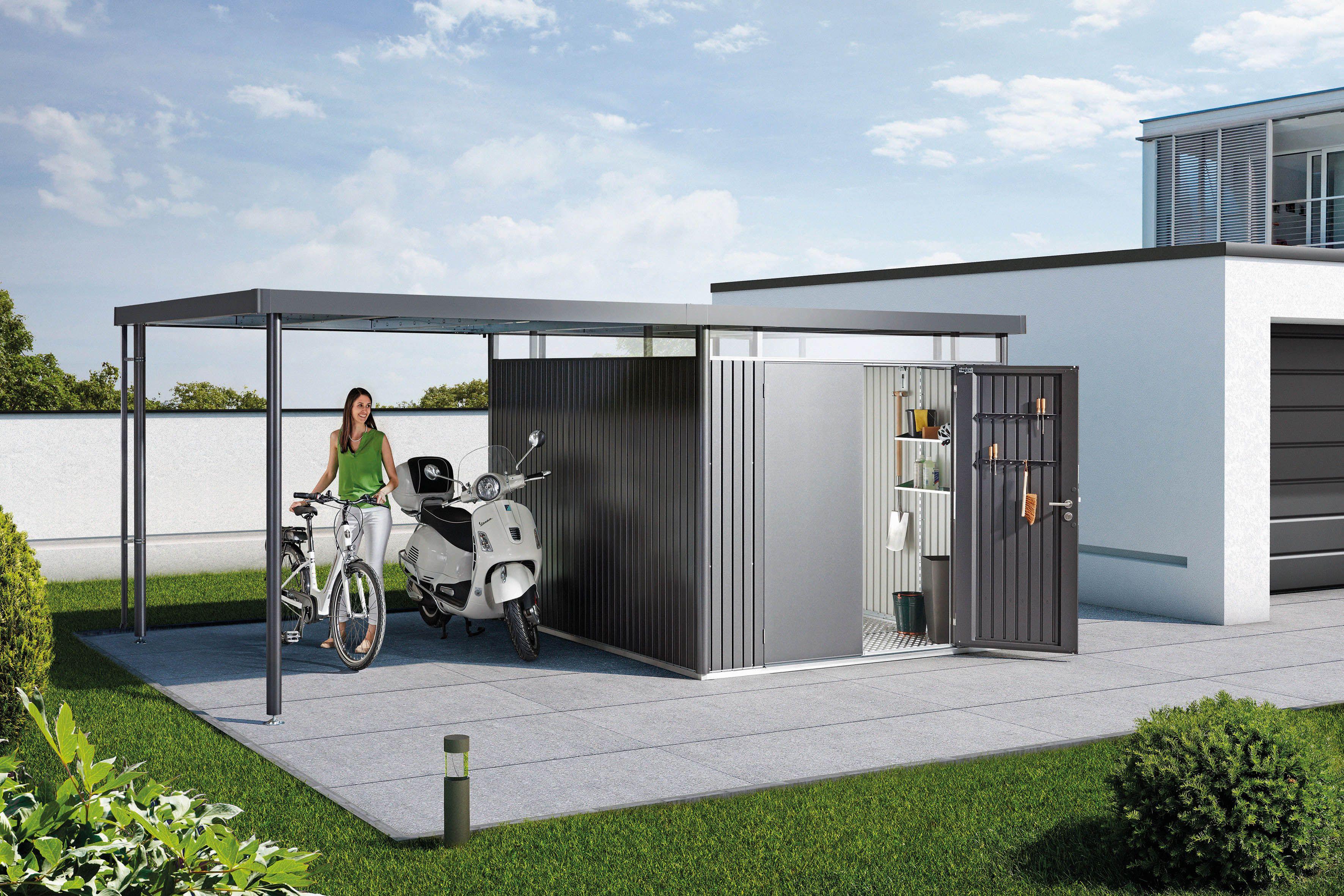 Biohort Gartenhaus Highline Mit Seitendach Biohort Gartenhutte Gartenhaus Metall